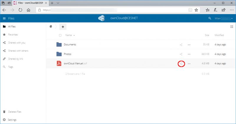 ownCloud [Oddělení datových úložišť CESNET]